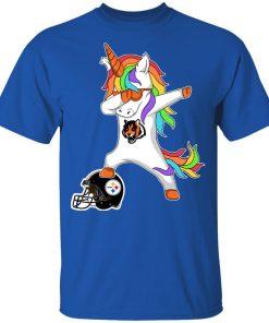 Football Dabbing Unicorn Steps On Helmet Cincinnati Bengals Youth's T-Shirt