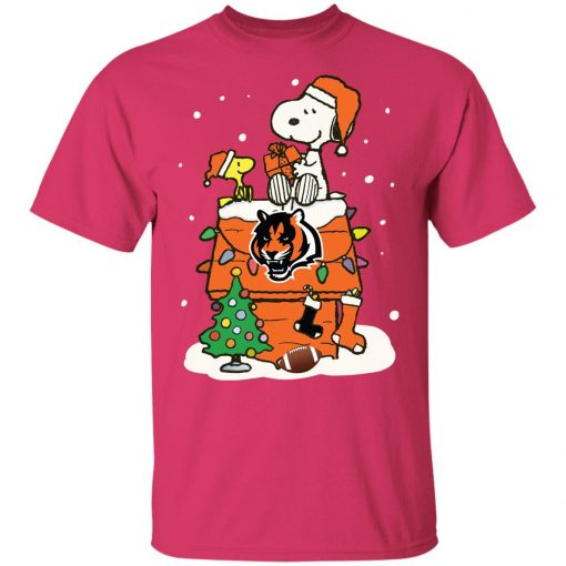 A Happy Christmas With Cincinnati Bengals Snoopy Youth's T-Shirt