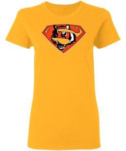 We Are Undefeatable The Cincinnati Bengals x Superman NFL Women's T-Shirt