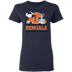 The Cincinnati Bengals Joe Cool And Woodstock Snoopy Mashup Women's T-Shirt