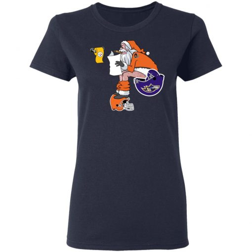 Santa Claus Cincinnati Bengals Shit On Other Teams Christmas Women's T-Shirt