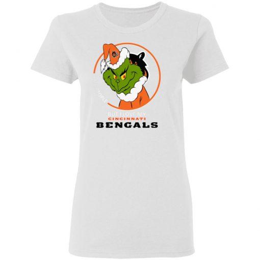 I Hate People But I Love My Cincinnati Bengals Grinch NFL Women's T-Shirt