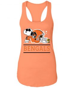 The Cincinnati Bengals Joe Cool And Woodstock Snoopy Mashup Racerback Tank