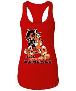 Mickey Donald Goofy The Three Cincinnati Bengals Football Shirts Racerback Tank