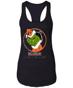 I Hate People But I Love My Cincinnati Bengals Grinch NFL Racerback Tank