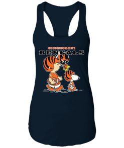 Cincinnati Bengals Let's Play Football Together Snoopy NFL Racerback Tank
