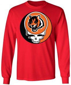 NFL Team Cincinnati Bengals x Grateful Dead Logo Band LS T-Shirt