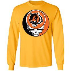 NFL Team Cincinnati Bengals x Grateful Dead Logo Band LS T-Shirt