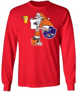 Santa Claus Cincinnati Bengals Shit On Other Teams Christmas LS T-Shirt