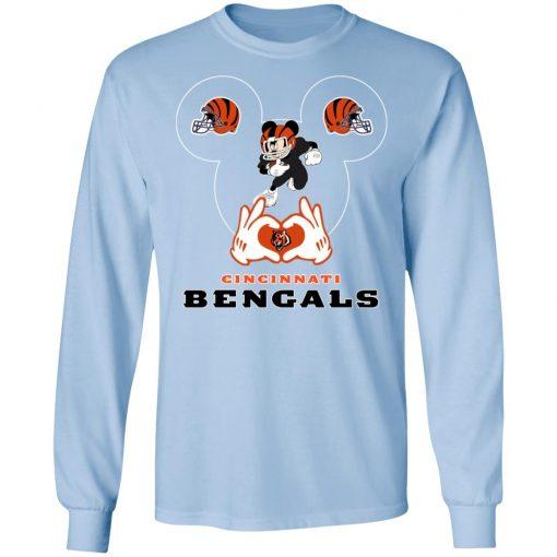 I Love The Bengals Mickey Mouse Cincinnati Bengals LS T-Shirt