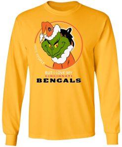I Hate People But I Love My Cincinnati Bengals Grinch NFL LS T-Shirt