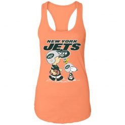 New York Jets Let's Play Football Together Snoopy NFL Racerback Tank