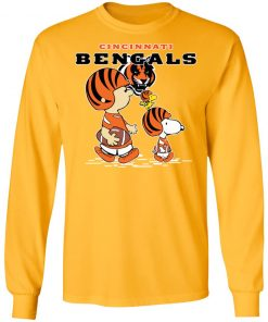 Cincinnati Bengals Let's Play Football Together Snoopy NFL LS T-Shirt