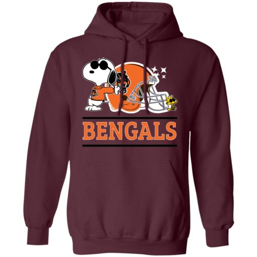 The Cincinnati Bengals Joe Cool And Woodstock Snoopy Mashup Hoodie