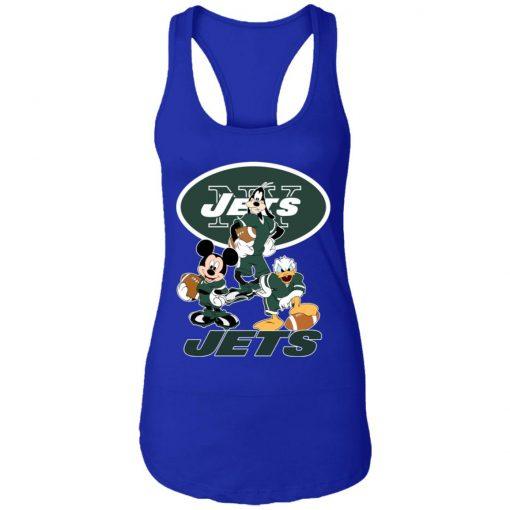Mickey Donald Goofy The Three New York Jets Football Racerback Tank