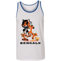 Mickey Donald Goofy The Three Cincinnati Bengals Football Shirts Unisex Tank