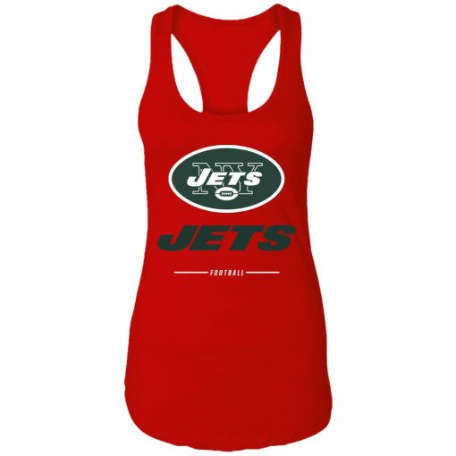 Men's new york jets NFL Pro Line Black Team Lockup Racerback Tank