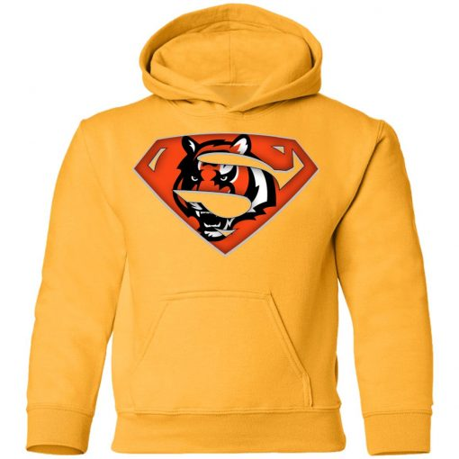 We Are Undefeatable The Cincinnati Bengals x Superman NFL Youth Hoodie