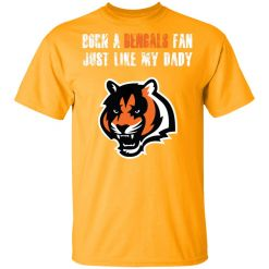 Cincinnati Bengals Born A Bengals Fan Just Like My Daddy Men's T-Shirt
