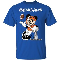 Mickey Bengals Taking The Super Bowl Trophy Football Youth T-Shirt