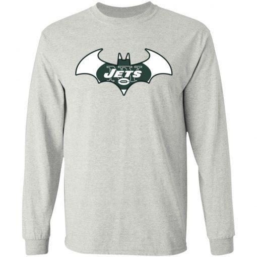 We Are The New York Jets Batman NFL Mashup LS T-Shirt