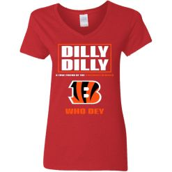 Dilly Dilly A True Friend Of The Cincinnati Begals V-Neck T-Shirt