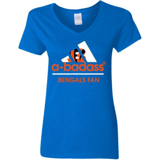 A-Badass Cincinnati Bengals Mashup Adidas NFL V-Neck T-Shirt