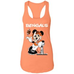 Mickey Bengals Taking The Super Bowl Trophy Football Racerback Tank