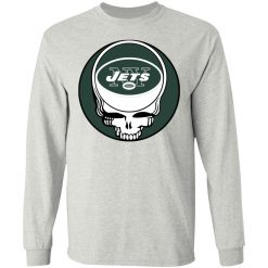 NFL Team New York Jets x Grateful Dead Logo Band LS T-Shirt