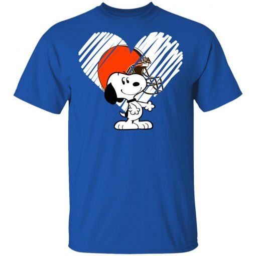 Private: I Love Cleveland Browns Snoopy In My Heart NFL Men's T-Shirt