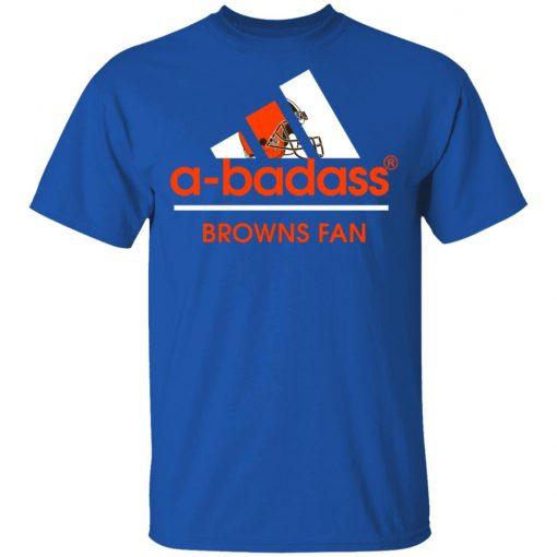 Private: A-Badass Cleveland Browns Mashup Adidas NFL Men's T-Shirt