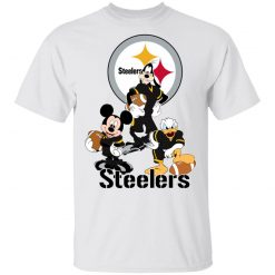 Private: Mickey Donald Goofy The Three Pittsburgh Steelers Football Shirts Men's T-Shirt