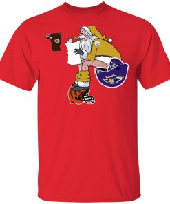 Private: Santa Claus Pittsburgh Steelers Shit On Other Teams Christmas Men's T-Shirt