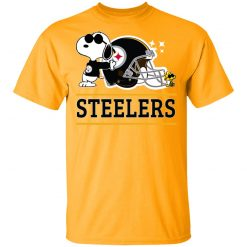 Private: The Pittsburg Steelers Joe Cool And Woodstock Snoopy Mashup T-Shirt