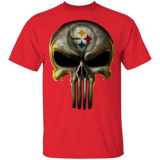 Private: Pittsburgh Steelers The Punisher Mashup Football Shirts T-Shirt