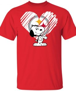 Private: I Love Pitburg Steelers Snoopy In My Heart NFL T-Shirt